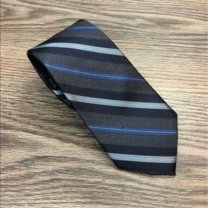 Kenneth Cole NWT Grey & Blue Stripe Tie